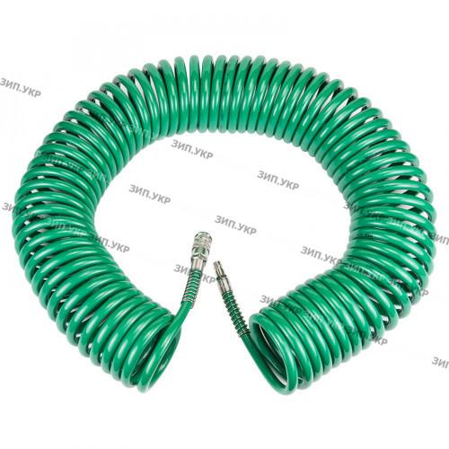 Шланг спиральный полиуретановый 15м 6,5х10 мм профессиональный Sigma Refine 7012181