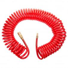 Шланг спиральный полиуретановый армированный 15м 6,5х10 мм профессиональный Sigma Refine 7013481