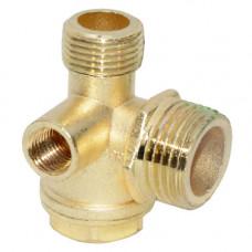 Обратный клапан компрессора 3/8-1/2-1/8 внутренняя
