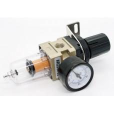 Фільтр осушувач до компресора з редуктором і манометром AW-2000